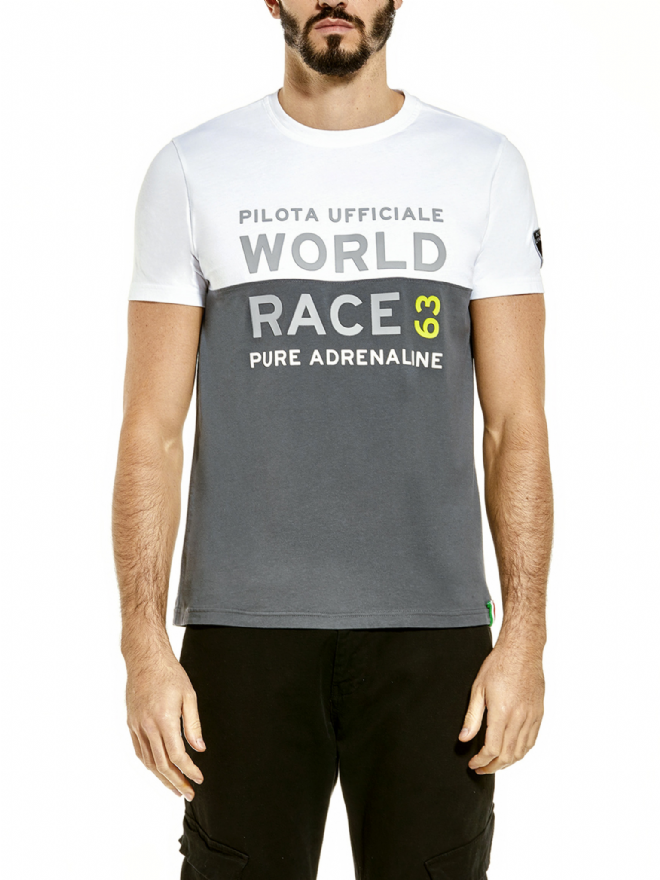 Lamborghini Men's World Race 63 t-shirt - Anthracite